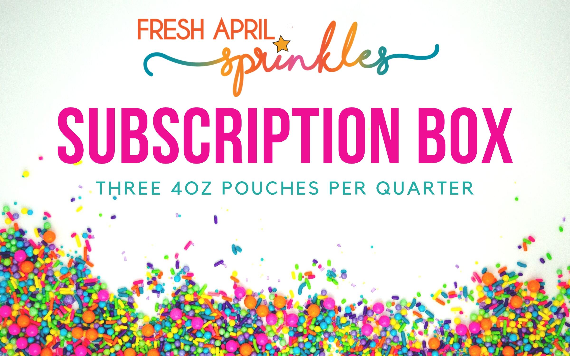 seasonal sprinkles, sprinkle subscription